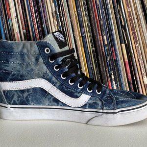 Vans Off The Wall Acid Wash Denim High Top Skate